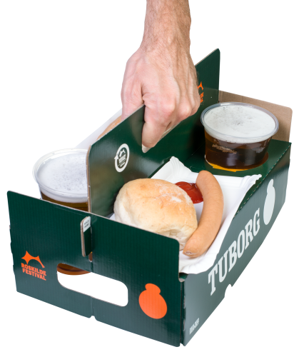 Beer snack Tablebox in green
