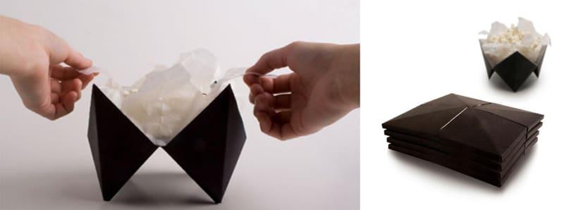 Tablebox creative packaging popcorn holder