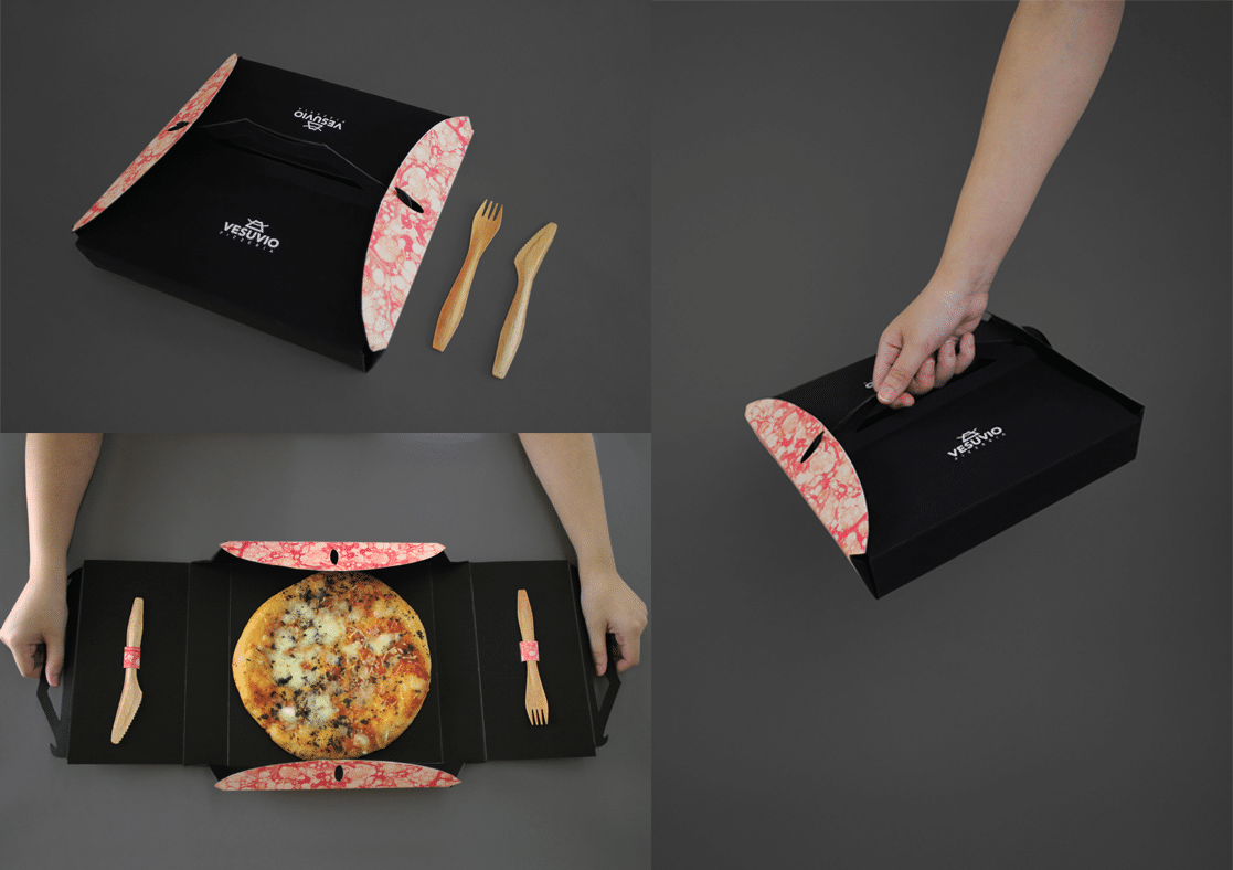 Tablebox creative packaging pizza